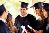 Graduation students — Stock Photo