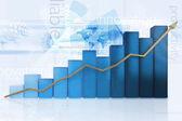 3d gráfico de negócios — Foto Stock