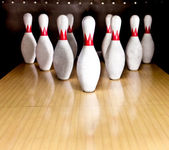 Bowling pins — Stock Photo