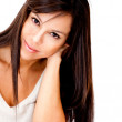 Woman with healthy long hair - Lizenzfreies Foto