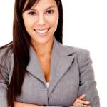 Businesswoman smiling — Stock Photo