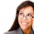Clever business woman with glasses — Stock Photo