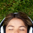 Stock Photo: Woman with headphones