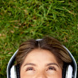 Woman with headphones — Stock Photo #9024404