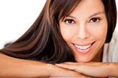 Kvinna med vackra hår — Stockfoto