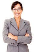 Friendly business woman — Stock Photo