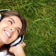 Listen to music — Foto Stock