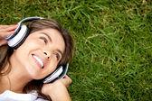 Muziek beluisteren — Stockfoto
