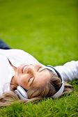 Relax con musica — Foto Stock