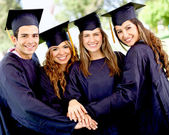 Graduation students — Foto de Stock