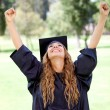 Happy graduation student — Stock Photo