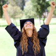 Stock Photo: Happy graduation student