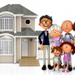 3D family house — Stockfoto
