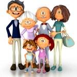 3D Happy family — Stock Photo
