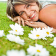 Sweet woman with flowers — Stock Photo #9086509