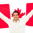 Stock Photo: Mwith Canadflag