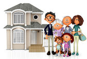 3D family house — Stock Photo