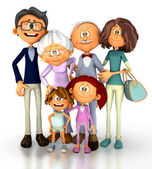 3D Happy family — Stock Photo