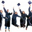 Stock Photo: Graduation jumping