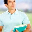 Royalty-Free Stock Photo: Thoughtful male student