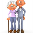 3D grandpa and grandma — Stock Photo