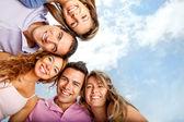 Grupp vänner — Stockfoto
