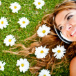 Stock Photo: Beautiful woman with headphones