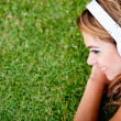 Woman listening to music — Stock Photo #9151704