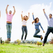 Stock Photo: Group of jumping