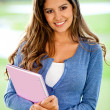 Female student smiling - Foto Stock