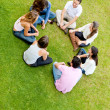 Friends in a circle — Stock Photo