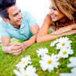 Loving couple outdoors - Foto Stock