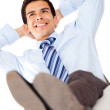 Businessman relaxing — Stockfoto