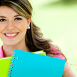 Stock Photo: Girl studying
