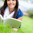Woman reading at the park — Stock Photo #9257536