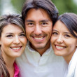 Man and two lovely girls — Stock Photo #9257568