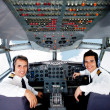 Pilots in an airplane cabin — Stock Photo #9283761