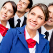 Airplane cabin crew — Stock Photo #9283773