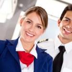 Airplane cabin crew — Stock Photo
