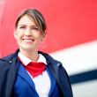 Stock Photo: Beautiful air hostess