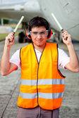 Controlador de tráfego aéreo — Foto Stock