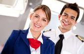 Personnel de cabine d'avion — Photo
