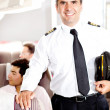 Stock Photo: Pilot in an airplane