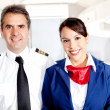 Airplane cabin crew - Stock Photo