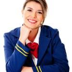 Air hostess smiling — Stock Photo #9297827