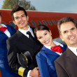 airplane cabin crew — Stock Photo