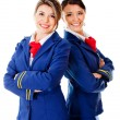 Air hostesses — 图库照片