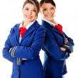 Air hostesses — Stock Photo