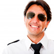 Handsome male pilot - Stock Photo