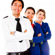 Airplane cabin crew — Stock Photo #9297878